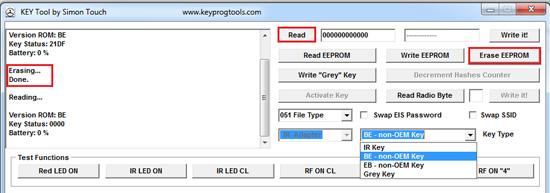 Mercedes password BE key/China key/erase/write key dump Via IR