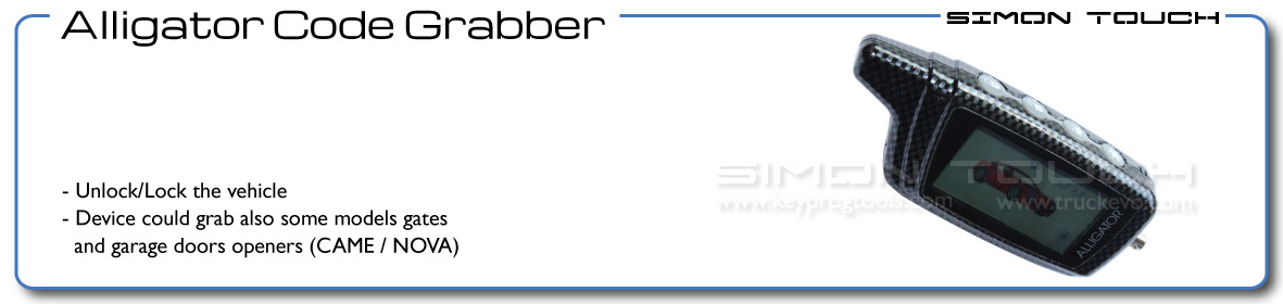 Alligator Car Code Grabber Reader By Simon Touch